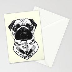 Dog - Tattooed Pug Stationery Cards