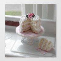 Lets Love Cake Canvas Print