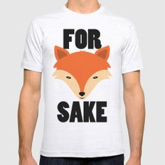 FOR FOX SAKE Mens Fitted Tee Ash Grey SMALL