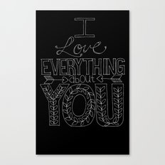 I Love Everything Canvas Print