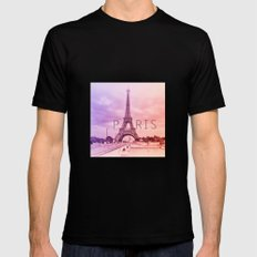 a tribute to Paris  Mens Fitted Tee Black SMALL