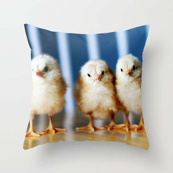 buckeye chicks Throw Pillow