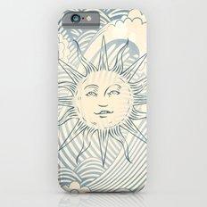 Sun sitting amongst the ocean iPhone 6 Slim Case