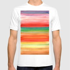 Autumn Ombre  White SMALL Mens Fitted Tee