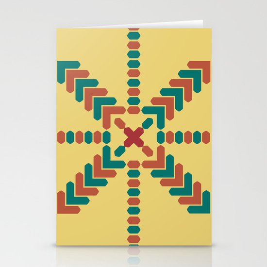 X Marks the Center Stationery Card