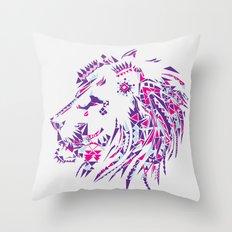 Aztec Lion Throw Pillow