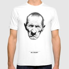 Mr. Grumpy Mens Fitted Tee White SMALL