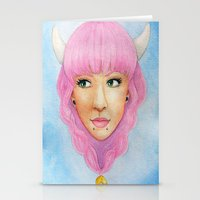 Bubblegum Queen Stationery Cards