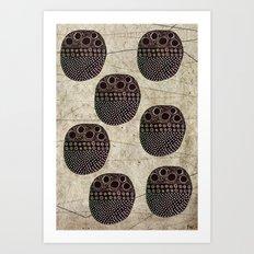 Polka Scarab Art Print