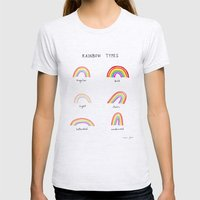 rainbow types Womens Fitted Tee Ash Grey SMALL