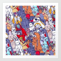 Space Toons In Color Art Print