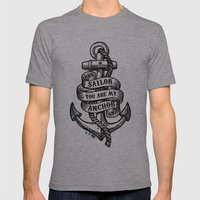You Are My Anchor Mens Fitted Tee Athletic Grey SMALL