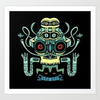 The smoking Chaman Art Print