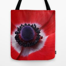 Red Anemone Tote Bag