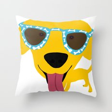 Labrador dog - Sunglasses Throw Pillow