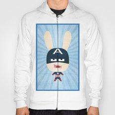 We are all rabbits \ Captain America - Todos somos conejos \  Capitan america Hoody
