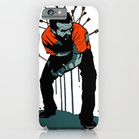 iPhone & iPod Case featuring Stop Wasting Arrows And Aim For Its Head, You Damn Fools! by Matthew Dunn
