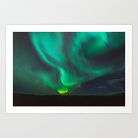 Northern Lights - Vik, Iceland Art Print