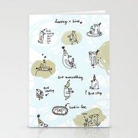 having a bird Stationery Cards