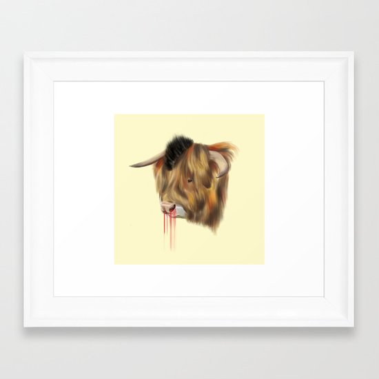 The Bull Framed Art Print