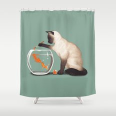 Goldfish need friend Shower Curtain