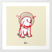 Space Puppy Art Print
