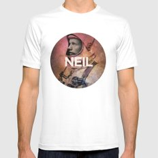 Neil. Mens Fitted Tee White SMALL