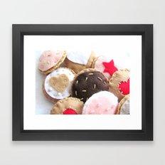 Felt Cookies Framed Art Print