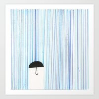Mr. Invisible Doesn't Li… Art Print
