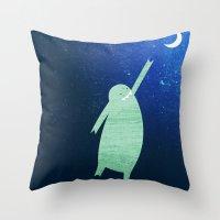 Monster Moon Throw Pillow