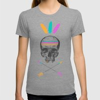 Dead Chief  Womens Fitted Tee Tri-Grey SMALL