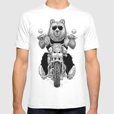 carefree bear Mens Fitted Tee SMALL White