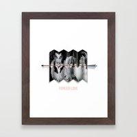 Forced Love Framed Art Print