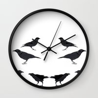 kargalar (crows) Wall Clock