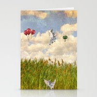 Pegasus and Balloons Stationery Cards