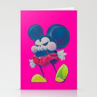 Fatty Skinny Mickey Skul… Stationery Cards