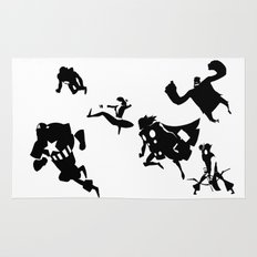 The Avengers Minimal Black and White Rug