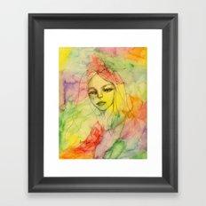 Rainbow romance Framed Art Print