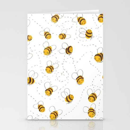Busy buzzy bees Stationery Card