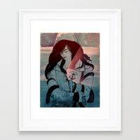 Framed Art Print featuring Thalassa by Stephan Parylak