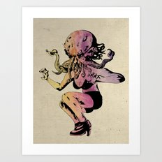 Wife of Cthulhu A.F. Montoy: Colour Art Print