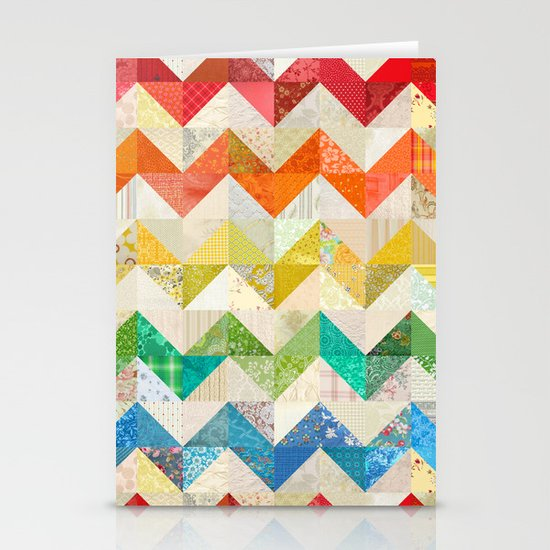 Chevron Rainbow Quilt Stationery Card
