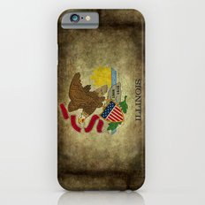State flag of  Illinois, grungy vintage textures Slim Case iPhone 6s