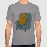 Couch Potato Mens Fitted Tee Athletic Grey SMALL