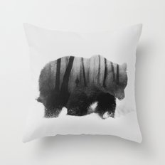 Watched By Grizzly Bear … Throw Pillow