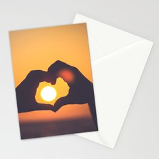 sun heart Stationery Cards