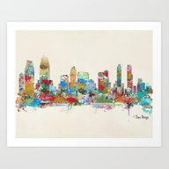 San Diego California Sky… Art Print