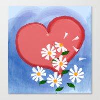 Loves me, loves me not Canvas Print
