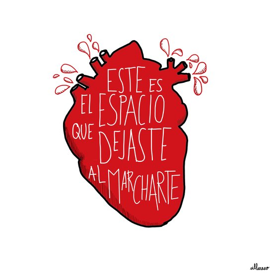 Este es el espacio que dejaste al marcharte (this is the space you left) Art Print