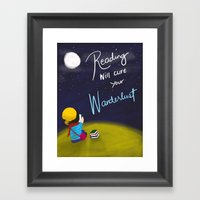 Reading Will Cure Your W… Framed Art Print